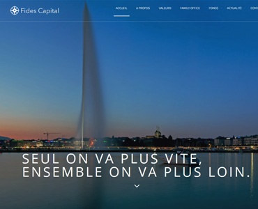 Website - Fides Capital | Portfolio inovatio media